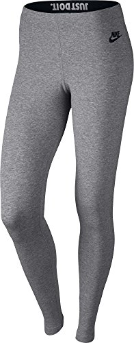 Nike Womens Leg-A-See JDI Leggings Carbon Heather/Black 726085-092 Size Medium