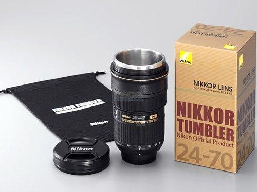 Nikkor 24 to 70mm Tumbler Nikon coffee lens mug