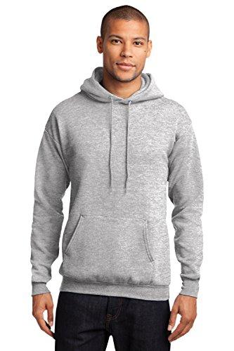 Sportoli Men's Adult Core Fleece Hooded Pullover Hoodie Sweatshirt Sweat Shirt - Ash (3X-Large)