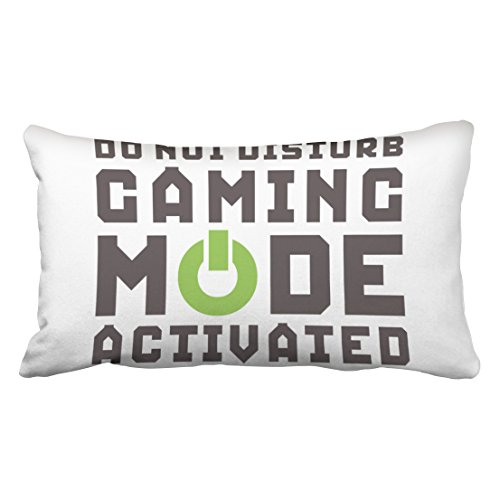 Musesh funny gamer pillow for video games geek gaming pro quote Cushions Case Throw Pillow Cover For Sofa Home Decorative Pillowslip Gift Ideas Household Pillowcase Zippered Pillow Covers 20X36Inch