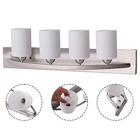 Wall Sconce Modern Pendant Lampshade Fixture Vanity Metal Bathroom New 4 Light Glass - Door Recessed Honey Oak Cabinets