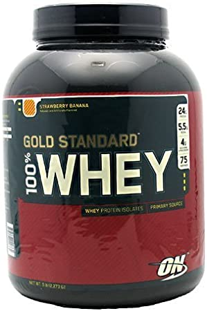Optimum Nutrition Gold Standard 100% Whey Banana Crm 5lb by ...