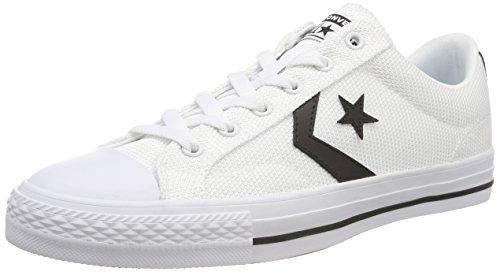 Converse Unisex Adults' Star Player OX Black/White Trainers, White (White/Black/White 102), 3.5 UK