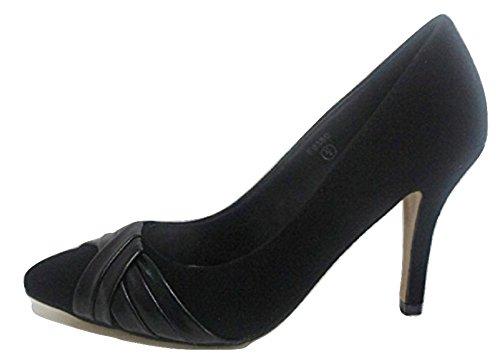 Spot On  Black, Sandales Compensées femme