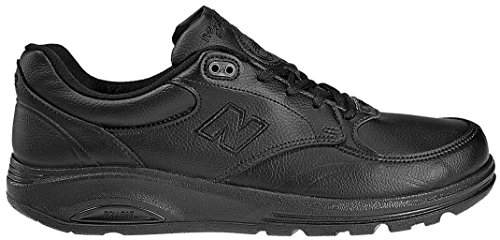 New Balance Men's MW812 Lace-up Walking Shoe,Black,13 2E - Lateral Control