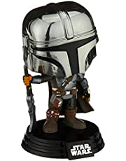 Funko Pop! Star Wars: The Mandalorian - Mandalorian (Chrome), Amazon Exclusive, Multicolor