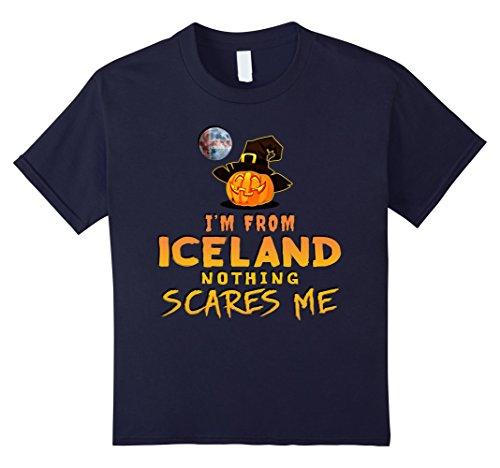 Kids I'm From Iceland Nothing Scares Me Tee 6 (Iceland Costume For Kids)