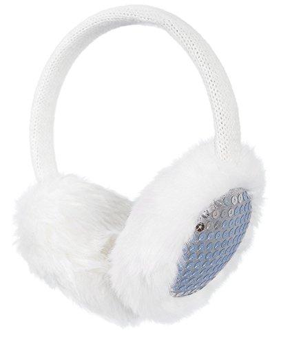 Simplicity Women's Faux Fur Fluffy Knit Patterned / Sequin Winter Ear Warmers