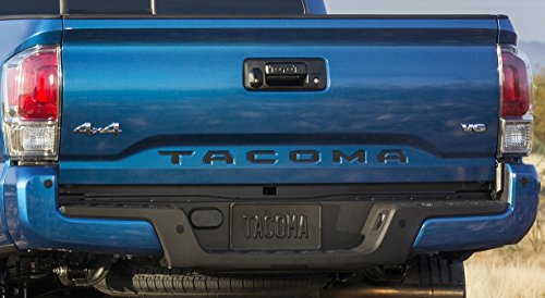 Toyota Tacoma 2016 2017 Piano Black Tailgate Letters Inserts