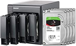 QNAP 4 Bay NAS with 12TB Storage Capacity, Preconfigured RAID 5 Seagate IronWolf Drives Bundle (TS-451+-8G-44R-US)