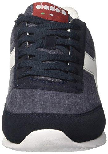 Diadora Men's Jog Light C Gymnastics Shoes, True Blue/Vintage White, 6 Blue (Blu Profondo)