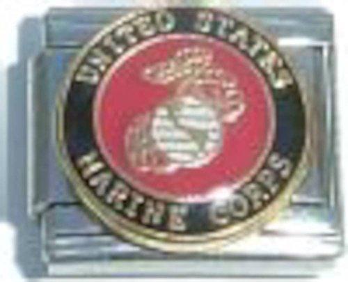 Charm Italian Art - United States Marine Corps Italian Charm