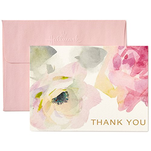 - Hallmark Thank You Cards, Watercolor Flowers (10 Cards with Envelopes)