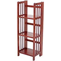 3-Shelf Folding Bookcase in Mahogany Finish