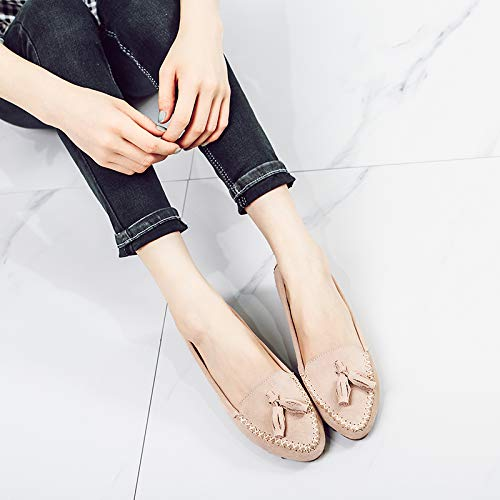shoes fashion F pregnant autumn Pointed leather comfortable women shoes flat work casual FLYRCX and spring shoes CTSqx