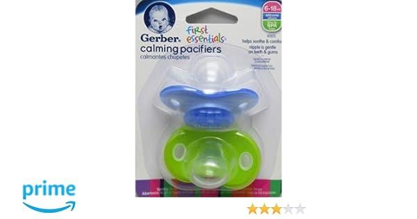 Gerber First Essentials Calming Boy Pacifier in Assorted Colors, 6-18 Months (BOY)