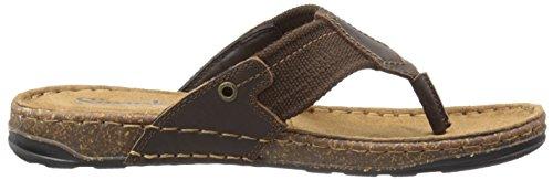 Simple Hombres Coronado Flip Flop Dark Brown Bronco