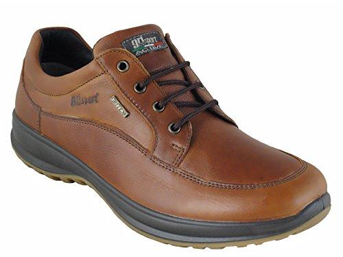 Grisport Livingston-Scarpe da uomo in pelle, colore: marrone chiaro