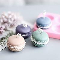 Kerzen Kuchen//Cupcake Dekoration S/ü/ßigkeiten Schokolade Badebombe Polymerton Muffins Macaron Hamburger Backformen Mini Seife MoldFun 2er Pack 3D Macaron Silikon Form f/ür Fondant