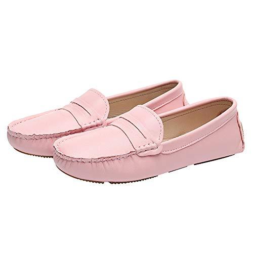 Flâneur Enfiler Mocassin Plat Pantoufle Chaussures Rismart Rose aqS1P