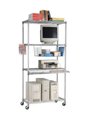 OFM LAN3618-SILVER Heavy-Duty LAN Unit, Silver by OFM