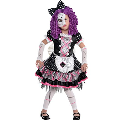 Amscan Damaged Doll Halloween Costume for Girls, Small, with Included Accessories
