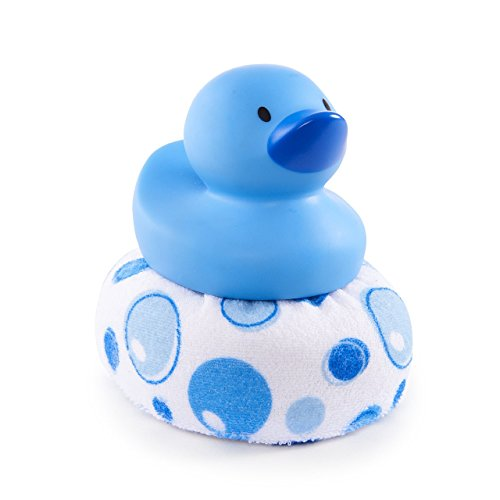 Blue Duck - Munchkin Duck Duck Clean Sponge Bath Toy, Blue
