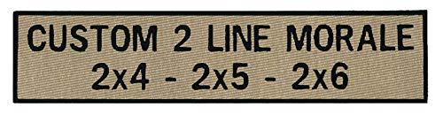 Custom 2 Line Morale Name Tapes with Border, 30 Plus Fabrics, 24 Hour Ship