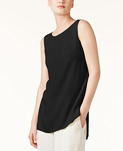 Eileen Fisher System Long Shell in Silk Georgette Crepe (M)