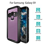 Scheam Samsung Galaxy S9 Waterproof Case, Samsung Galaxy S9 Underwater Shockproof Case Anti-Cracking with Built-in Screen Protector Rugged Phone Case Slim Case - Black