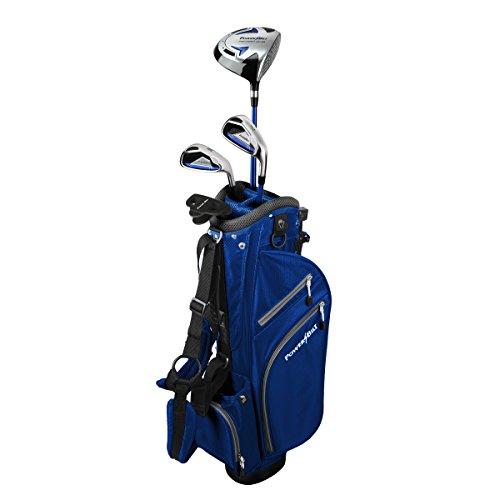 PowerBilt Junior Kids Boy's Ages 5-8 Golf Club Set, Right Hand, Blue