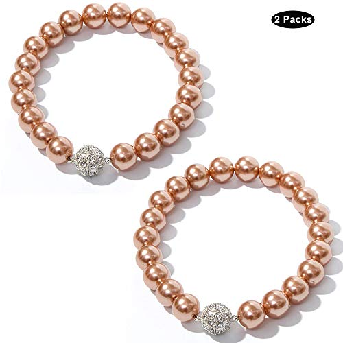 - Boseny Curtain Tiebacks Magnetic, 2 Pack Pearl Beaded Curtain Tie Backs Clips Metal Strong Buckle Style Rope Decorative Curtain Holdbacks for Home Kitchen Office - Brown