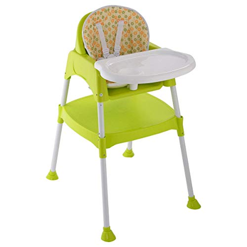 COSTWAY 3 in 1 Baby Convertible Table Seat Booster Toddler F