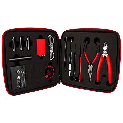 DIY V-a-p-e Kit Bag C-o-i-l Jig ohm Meter Ceramic Tweezer Tool Set (one size)