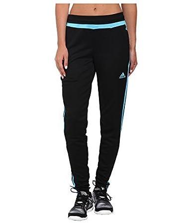 adidas Performance Women's Tiro 15 Training Pants, Black/Light Aqua, X-Small INLJC S1506GHTT015W