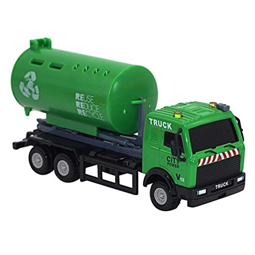 Truck Stress Reliever (kaifongfu Toy Car,1:43 Racing Bicycle Shop Truck Toy Car Carrier Vehicle Garbage Truck for Kids (C))