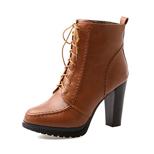 Weaving Brown Up Womens Lace Cross BalaMasa Thread Imitated Leather Boots q6tSv