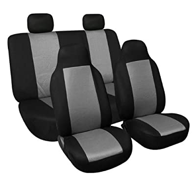 FH Group FB102GRAY114 Gray 3D Air Mesh Auto Seat Cover