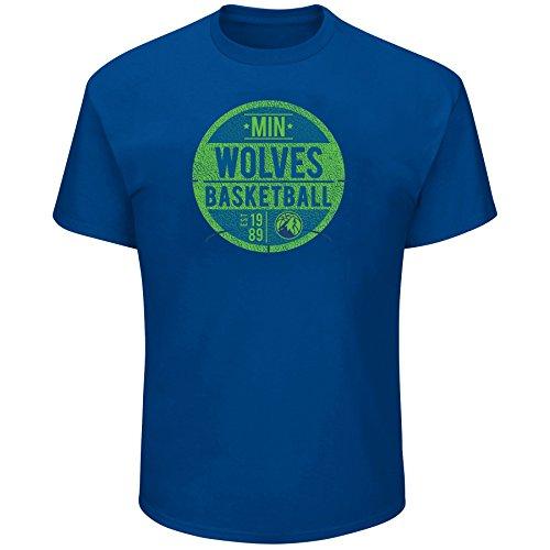 - Profile Big & Tall NBA Minnesota Timberwolves Short Sleeve Screen Tee, Blue, 3X