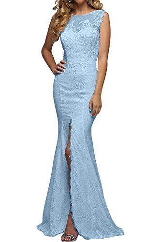 Elegant La Promkleider Spitze Hell Partykleider Blau Etuikleider Meerjungfrau Festlichkleider Lang Brau mia Rock Abendkleider Tanzenkleider nnERqFHCx