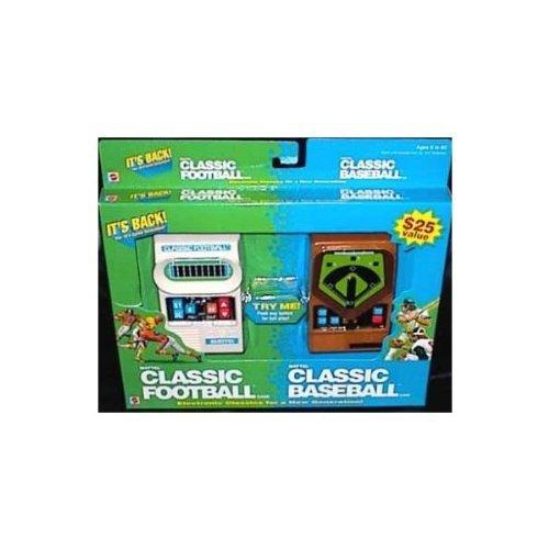 Mattel Classic Football and Mattel Classic Baseball 2 Pack