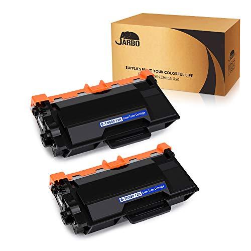 JARBO TN-880 TN880 Toner, for Brother TN-850 TN850 TN-820 TN820, 2 Black, Use with Brother HL-L6200DW L5200DW L5100DN L6300DW MFC-L5900DW L5700DW L5800DW L6700DW L6800DW Printer