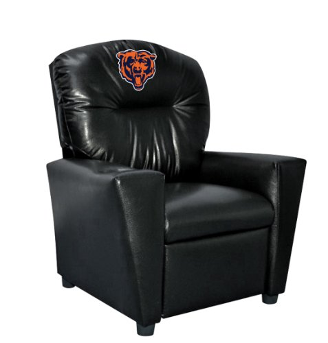 - Imperial Officially Licensed NFL Furniture: Youth Faux Leather Recliner, Chicago Bears