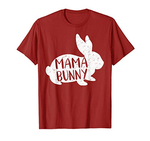 Mama Bunny T-Shirt Cute Matching Family Easter Shirt ()