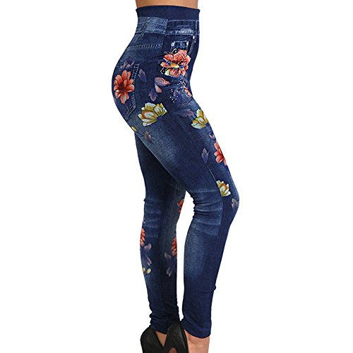 Pants t en Haute Cow Decha Taille Stretch lastique Skinny Pantalon Boy Jeans Bleu Casual Denim Femme qBHPC