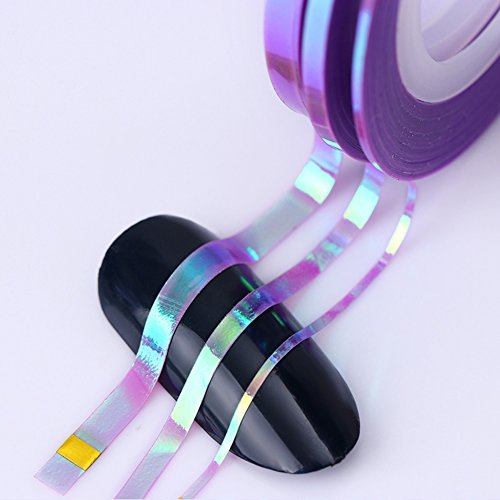 18Pcs Mermaid Candy Color Nail Striping Tape Line 1mm 2mm 3mm Nail Stickers
