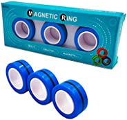 Time-killer Magnetic Ring Fidget Spinner Toy, Stress Relief Magic Bracelet Ring Decompression Unzip Toy for Ad