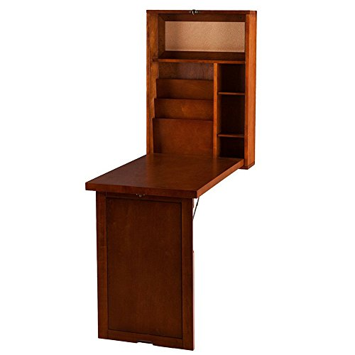 Wall Mounted Writing Desk Convertible Folding Computer Laptop Work Table Storage Βookcase Shelves Home Ferniture Student's Bedroom Unit Hobby Table Space Saver Simple Design & eBook BADA shop (Ferniture)