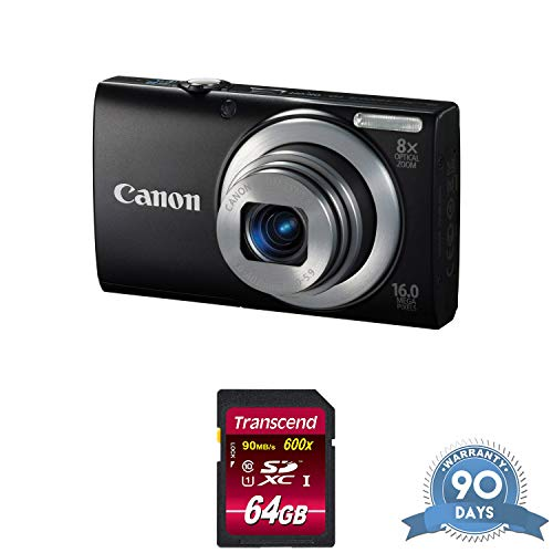 (Canon PowerShot A4000 is Digital Camera (Black) with Memory Card -)