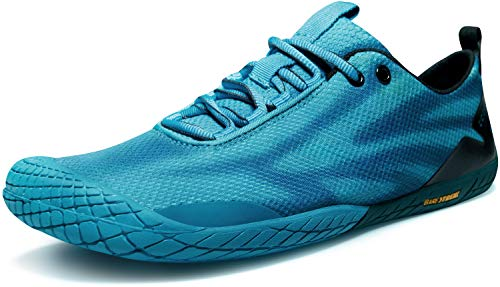 TSLA Men's Trail Running Minimalist Barefoot Shoe, Baretrek(bk32) - Green, 7